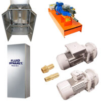 Featuring an array of admixture weighing and discharge pumps.